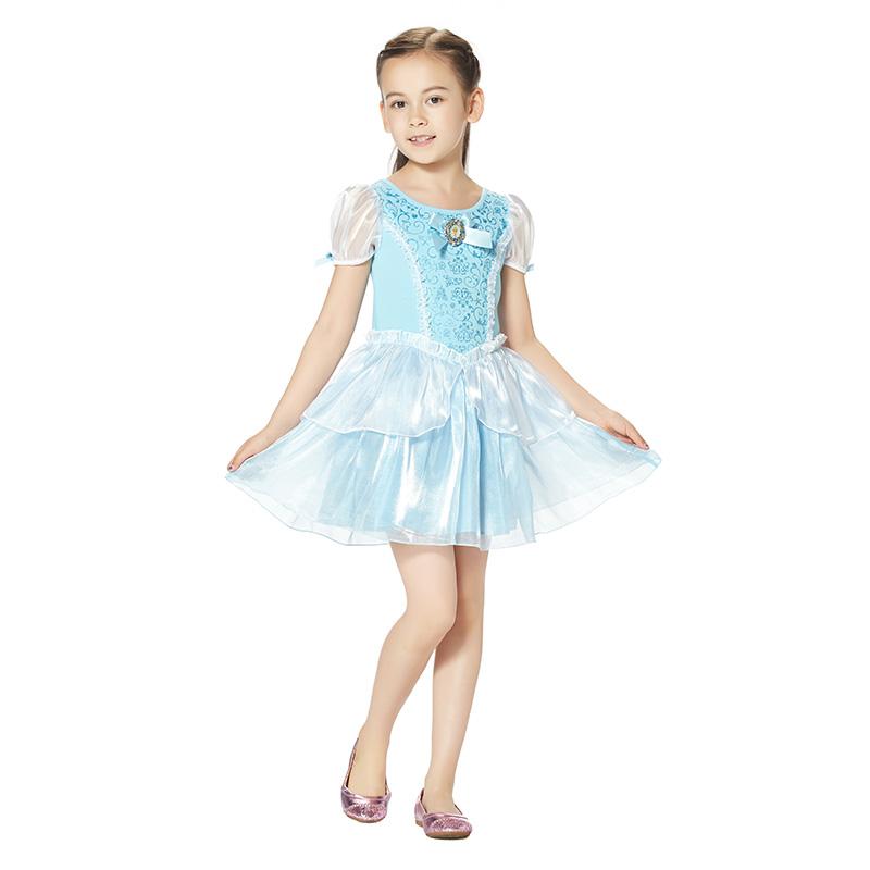 迪士尼灰姑娘连衣裙海蓝色