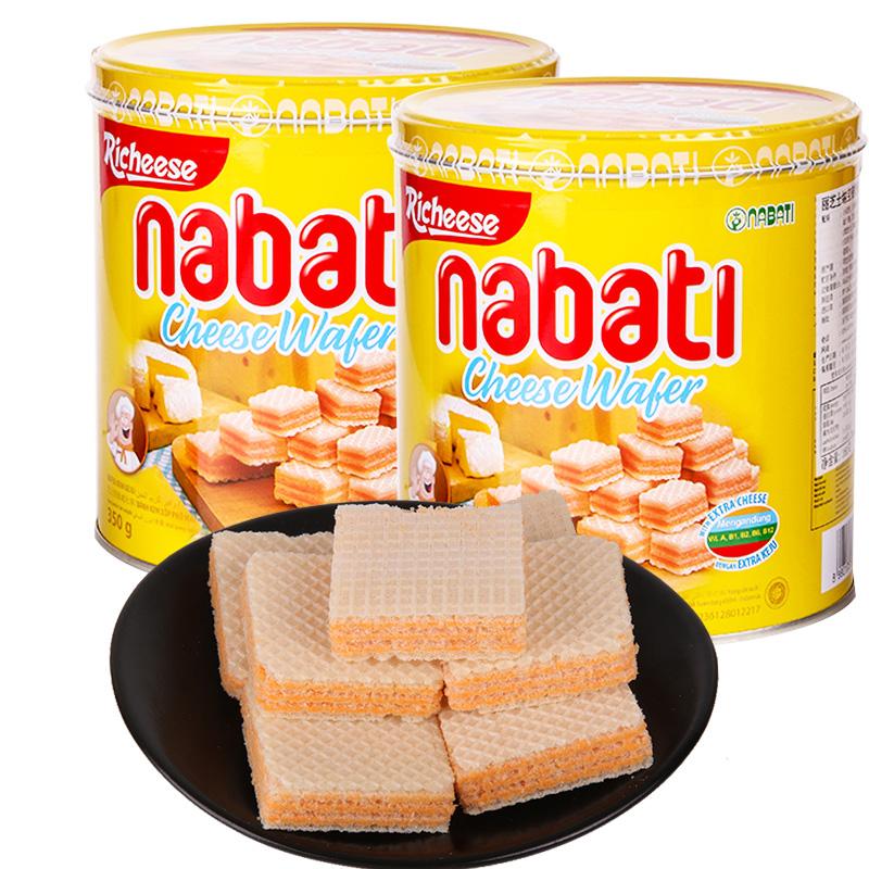 Richeese丽芝士印度尼西亚进口 纳宝帝奶酪威化饼干350g*2