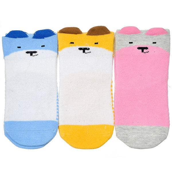 旭威--微笑熊宝宝袜701(混色-0-12个月)