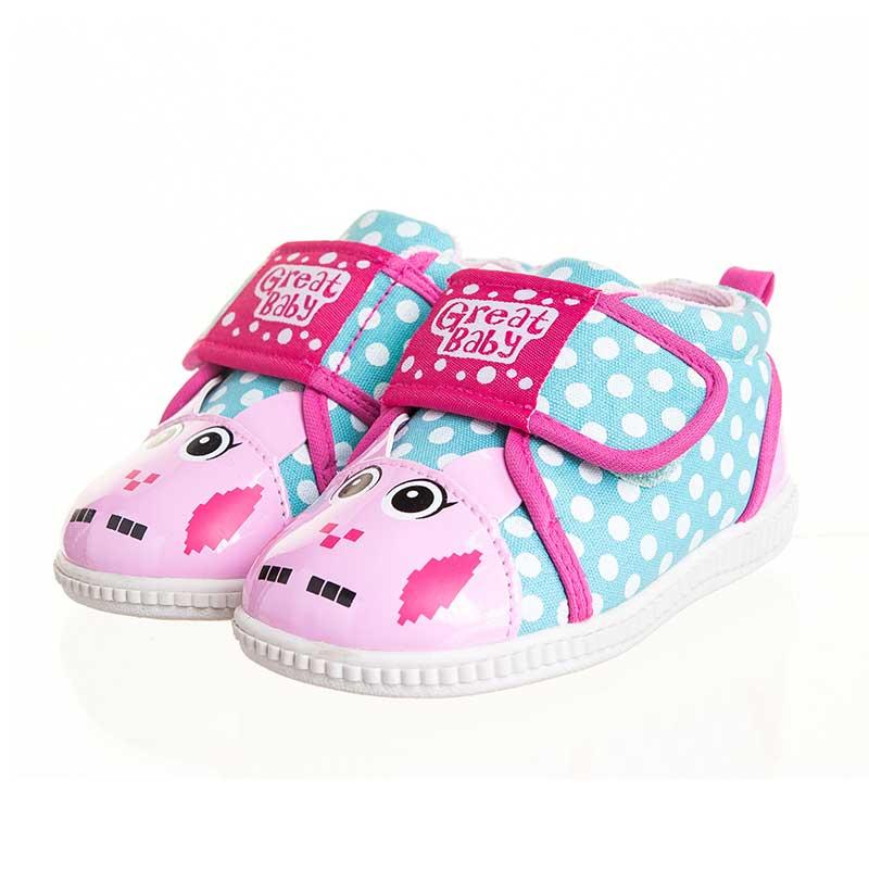 歌瑞贝儿(新)--快乐兔叫叫鞋(女婴儿鞋)GB143-007SH粉14.5CM