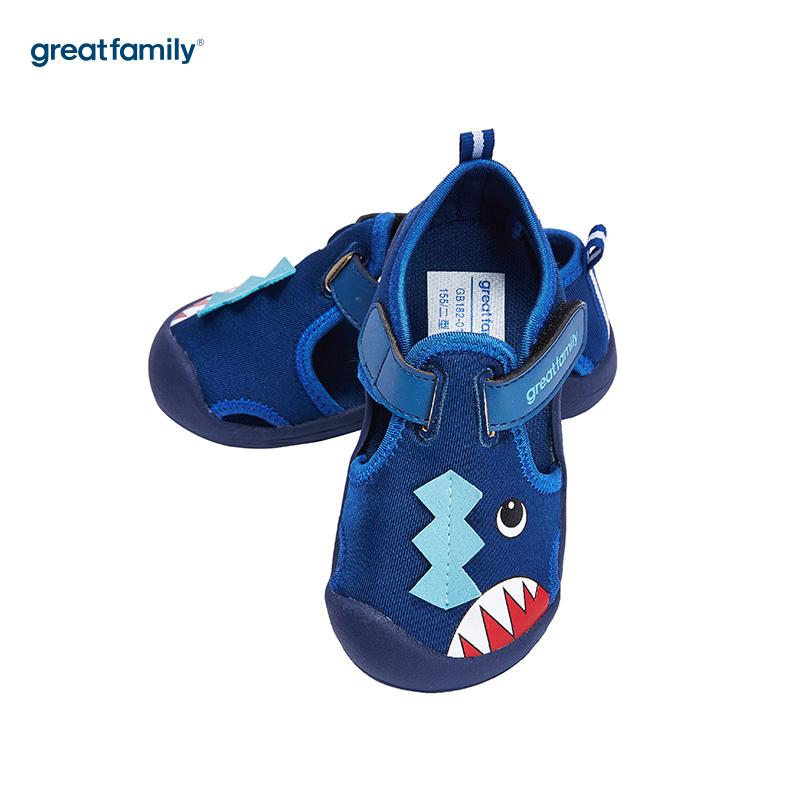 歌瑞家(greatfamily)男婴立体动物运动鞋GB182-010SH蓝13.5CM双