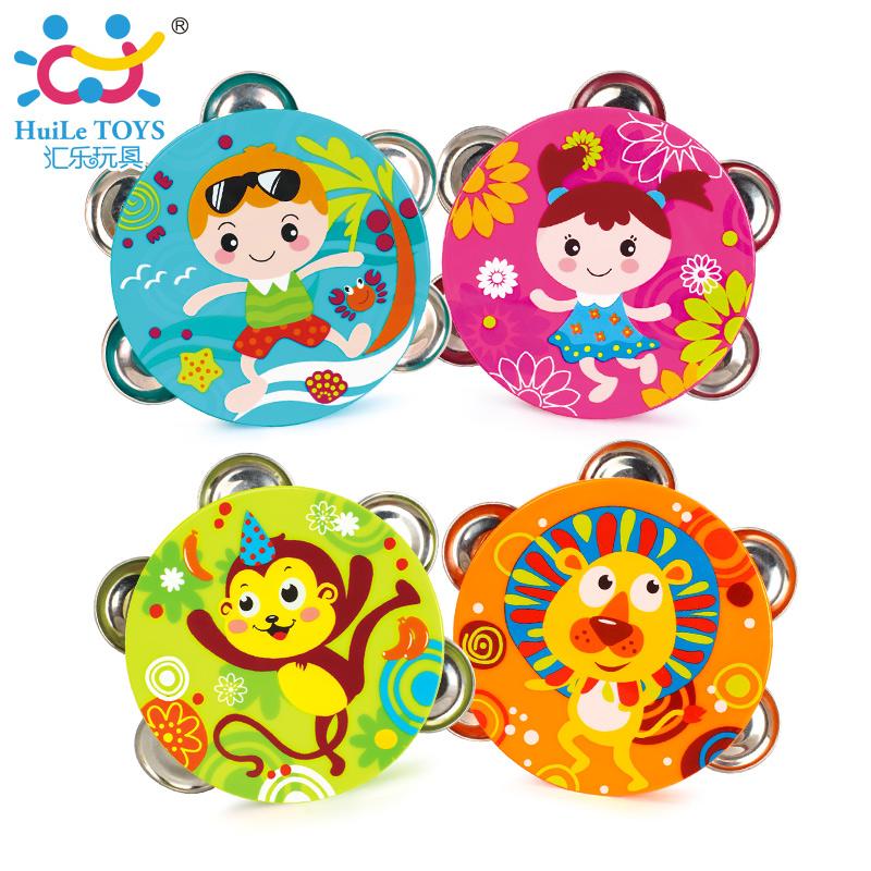汇乐婴幼儿玩具铃鼓(颜色款式随机)