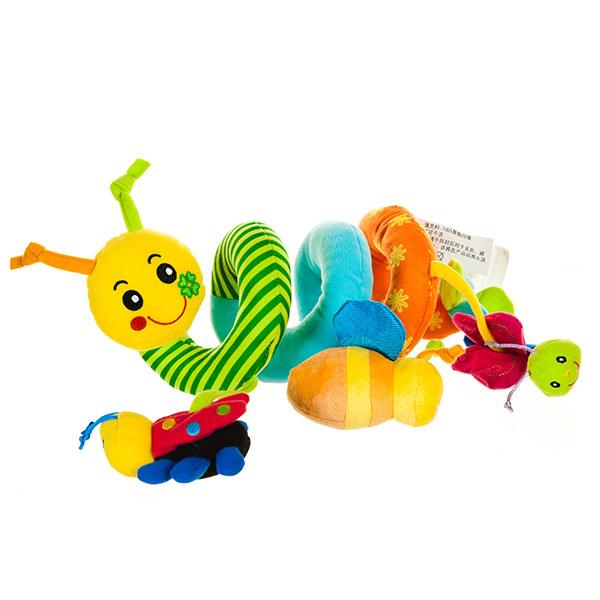 字母卡通车床绕带拉振 益智毛绒玩具