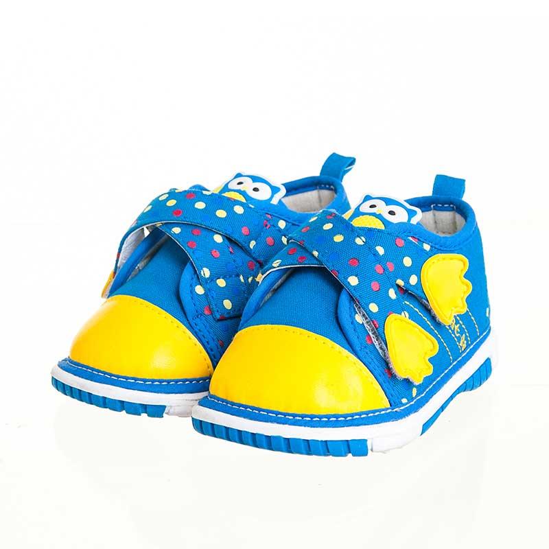 歌瑞贝儿(新)--可爱爪叫叫鞋(男婴儿鞋)GB143-010SH蓝14.5CM