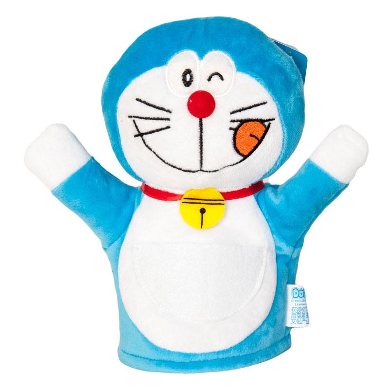澳捷尔哆啦a梦手偶安抚娃娃婴儿毛绒手偶手套儿童玩具