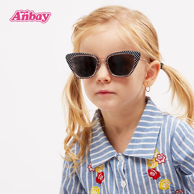 安比女童黑色儿童太阳镜