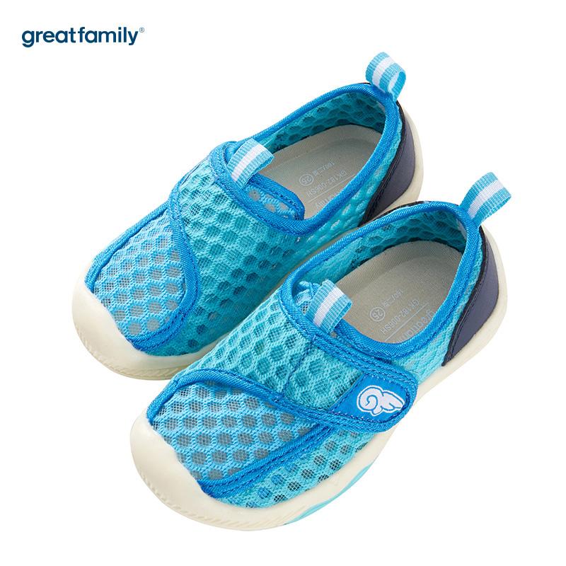 歌瑞家(greatfamily)男婴运动凉鞋GK182-006SH蓝13.5CM双