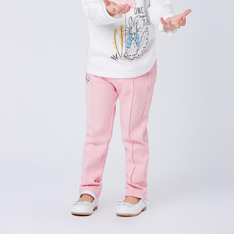 歌瑞家greatfamilyPeterRabbitA类粉女童针织长裤