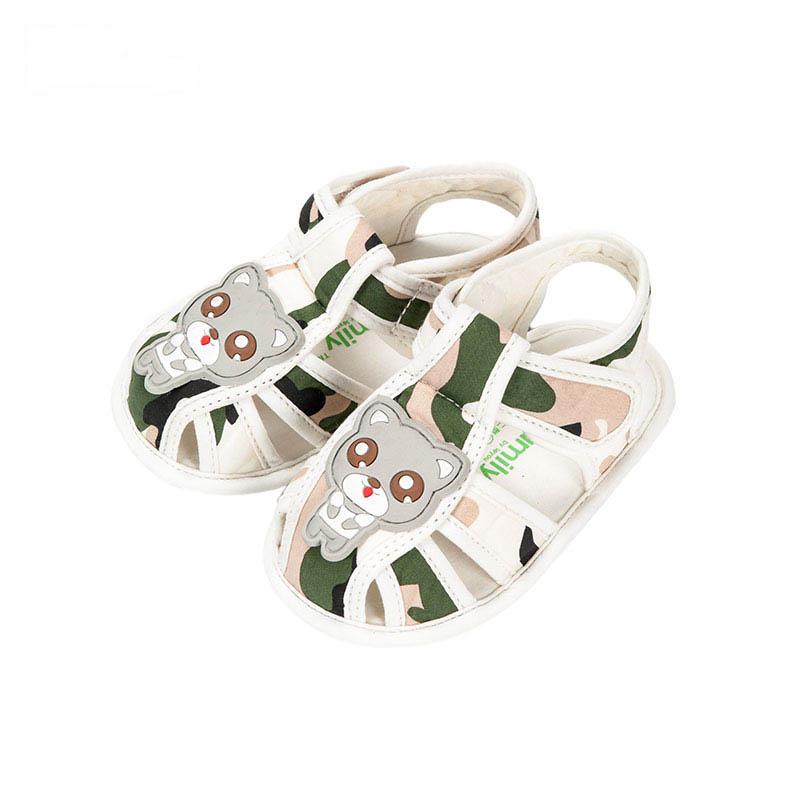 歌瑞贝儿男婴迷彩凉鞋GB162-002SH绿11cm双