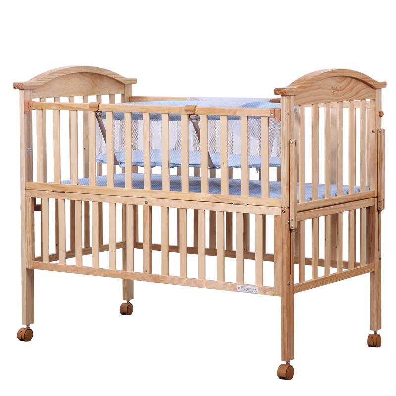 lulala--新西兰松婴儿床300(原木色)