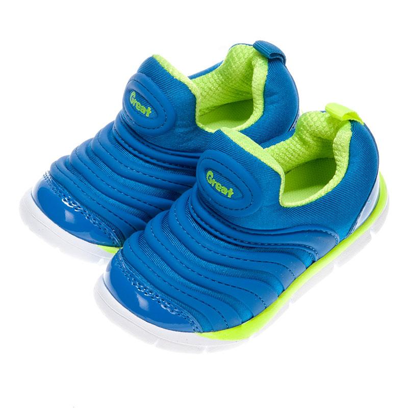 歌瑞凯儿greatfree男婴小毛虫运动鞋GK153-015SH蓝13.5cm双