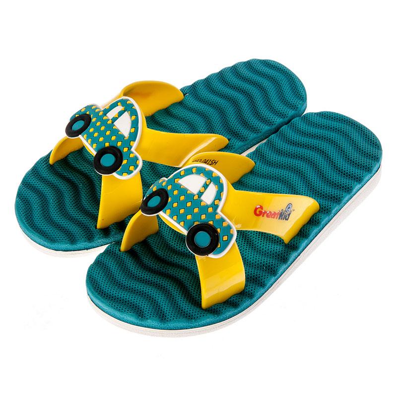 歌瑞凯儿男婴小汽车拖鞋GK152-041SH蓝14cm