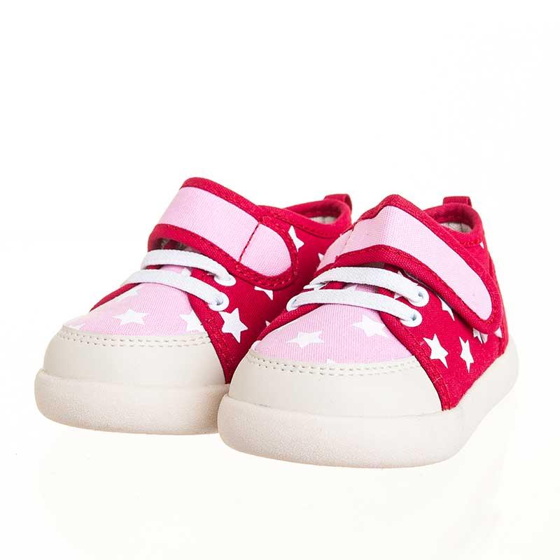 歌瑞贝儿(新)--星星学布鞋(女婴儿鞋)GB143-029SH红13.5CM
