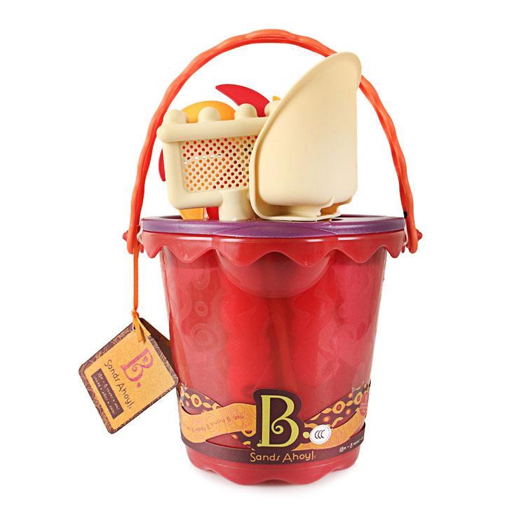 B.Toys比乐儿童夏日沙滩玩水玩沙中号水桶套装嬉水玩具男孩女孩玩具