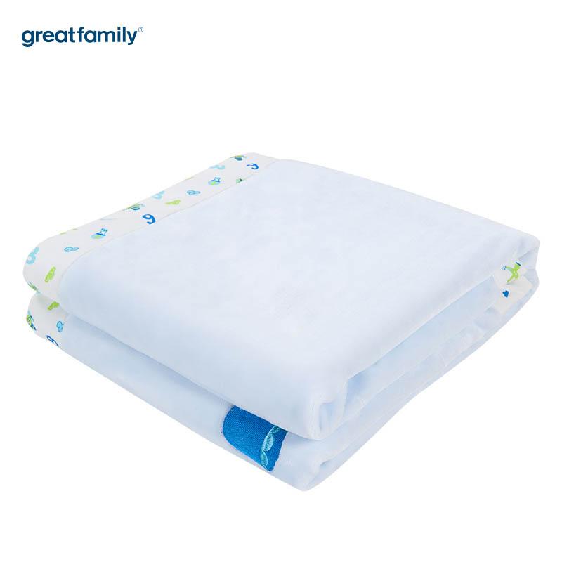 歌瑞贝儿(新)法兰绒毯GB170Q-1229蓝色100*140cm0-3岁适用