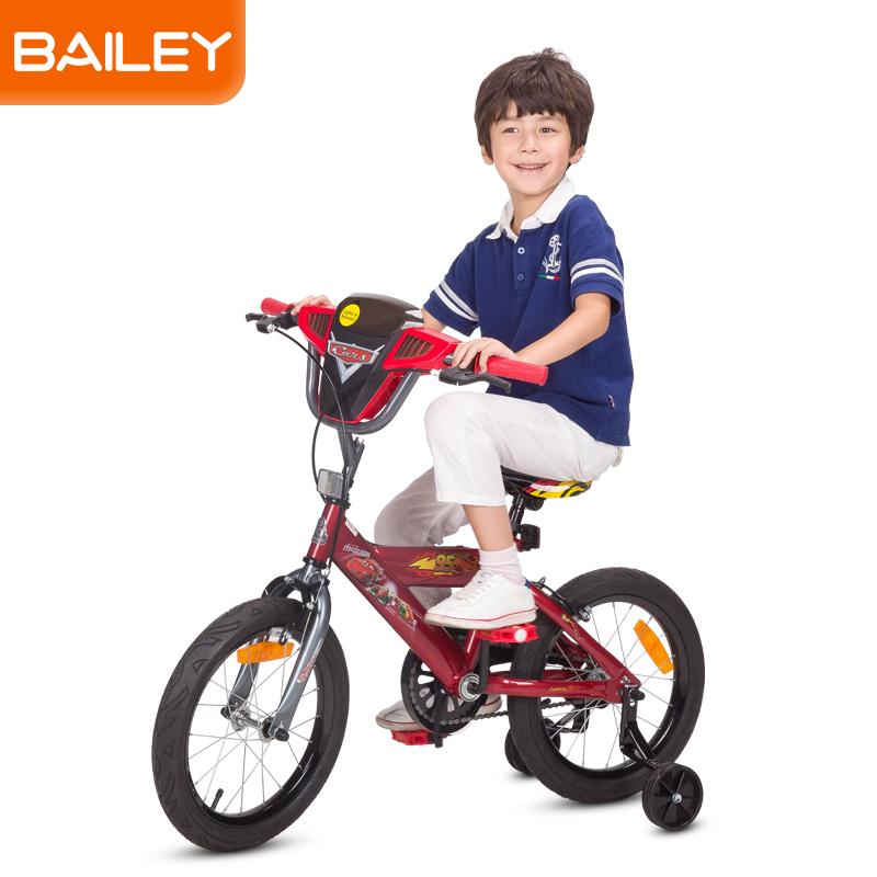 贝乐童车迪士尼系列汽车总动员音乐盒自行车16寸 红色