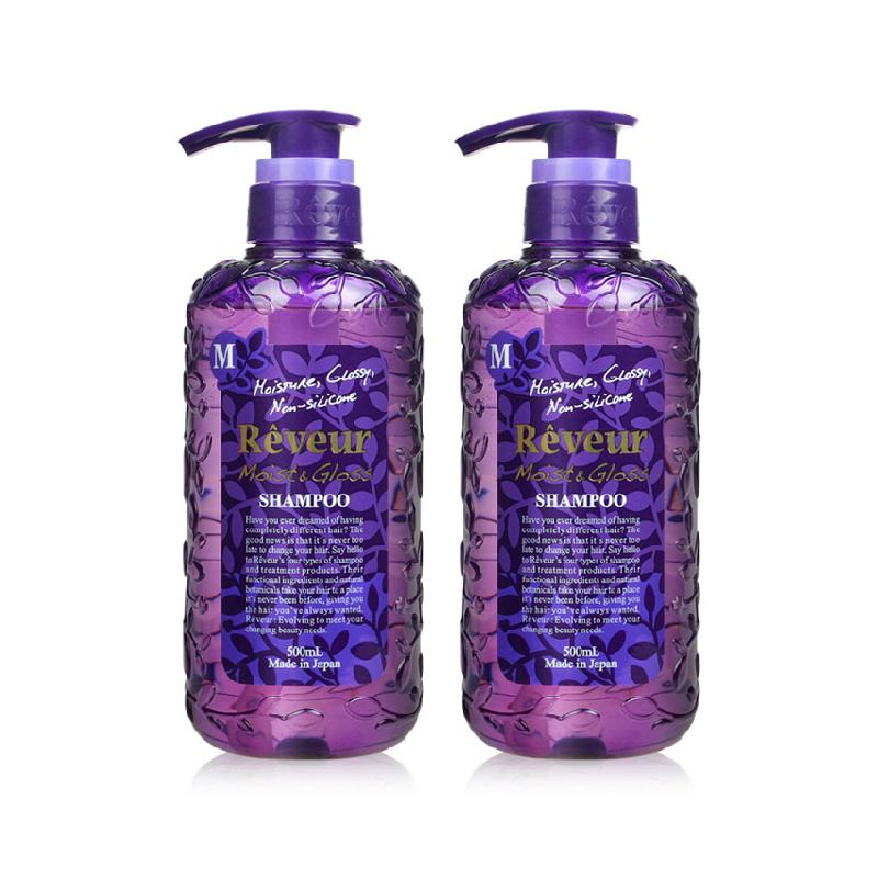 【乐海淘】日本Reveur无硅洗发水 滋养保湿 紫瓶 500ml*2瓶 保税区直发