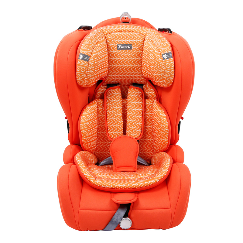 Pouch适用9个月-12岁便携式车载宝宝安全座椅Q19-1橙色
