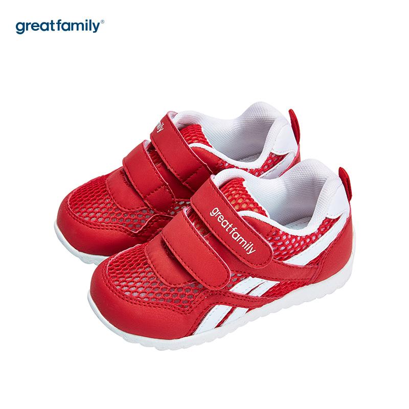 歌瑞家(greatfamily)男婴运动鞋GB182-017SH红13CM双