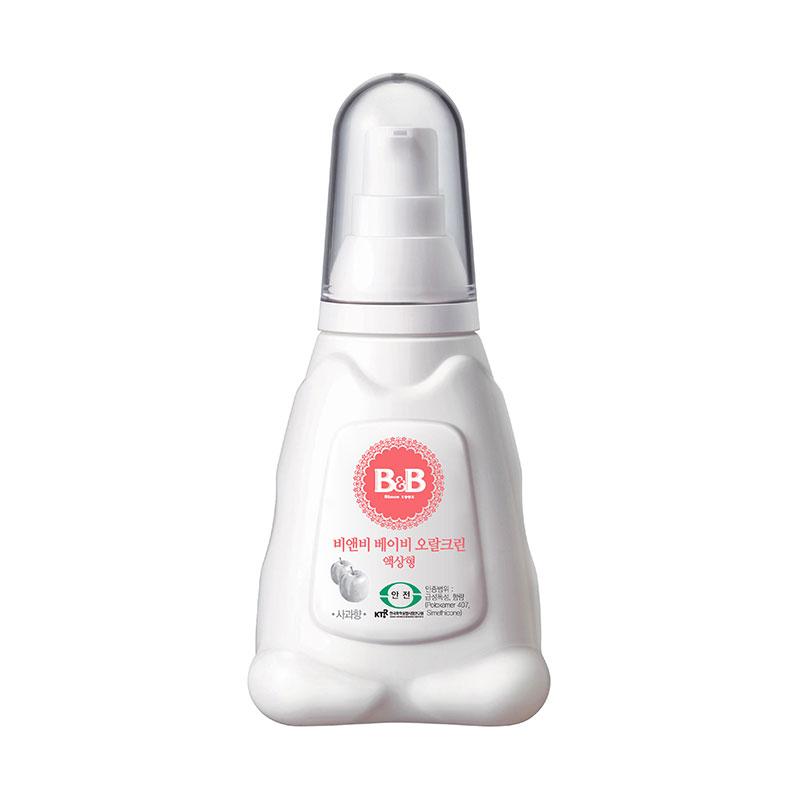 保宁B&B韩国进口宁婴儿口腔清洁剂70g苹果味婴儿口腔清洁