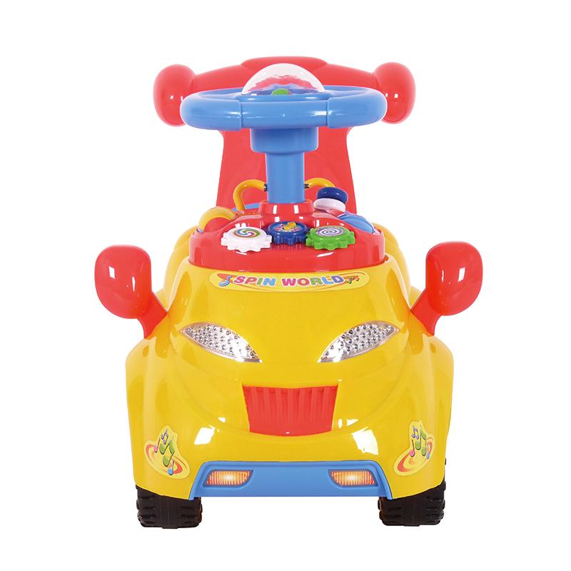 智乐堡旋转乐园车黄色