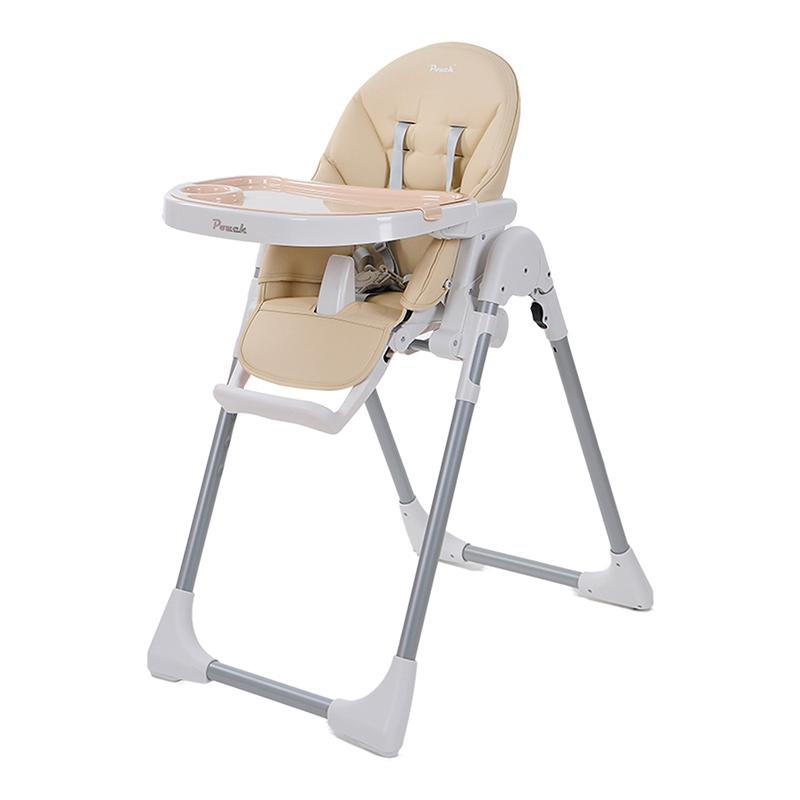 Pouch简约多功能便携婴儿餐椅K06米白色