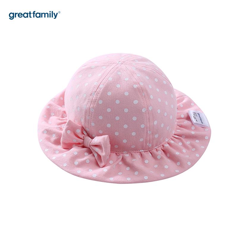 歌瑞家A类女童粉色盆帽