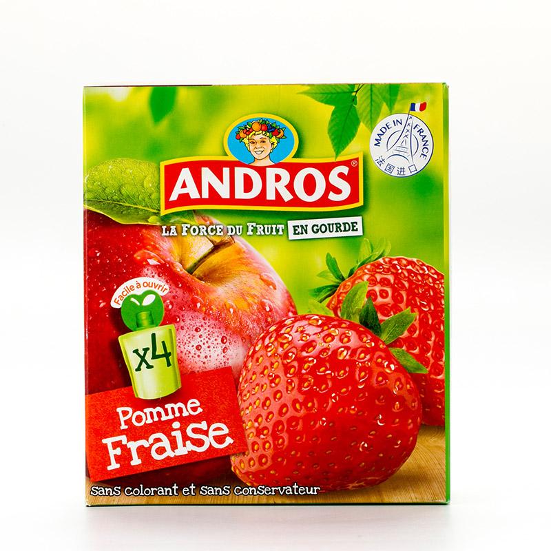 安德鲁爱果士苹果草莓可吸果泥360g复合水果多种营养
