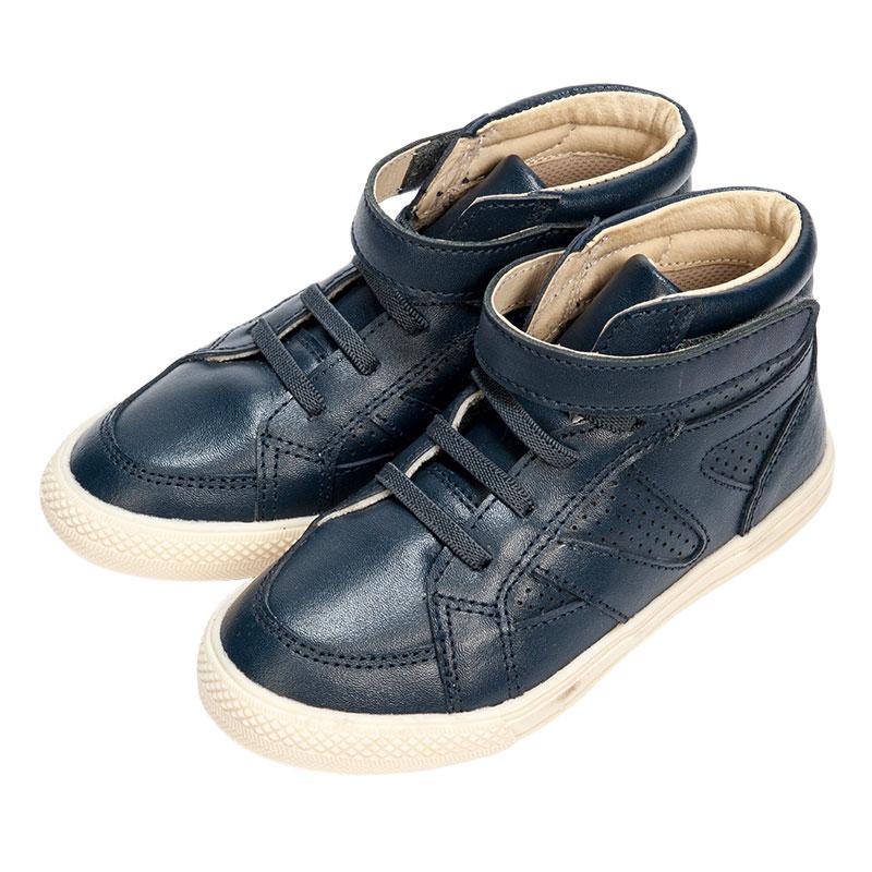 歌瑞凯儿男婴时尚皮鞋GK153-005SH蓝16cm双