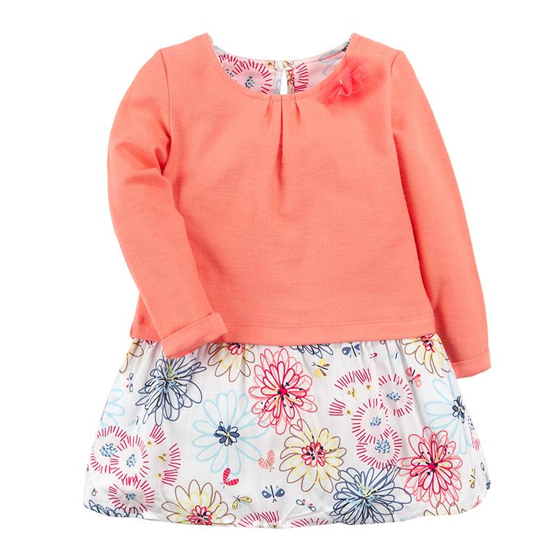歌瑞凯儿A类女童橙色连衣裙
