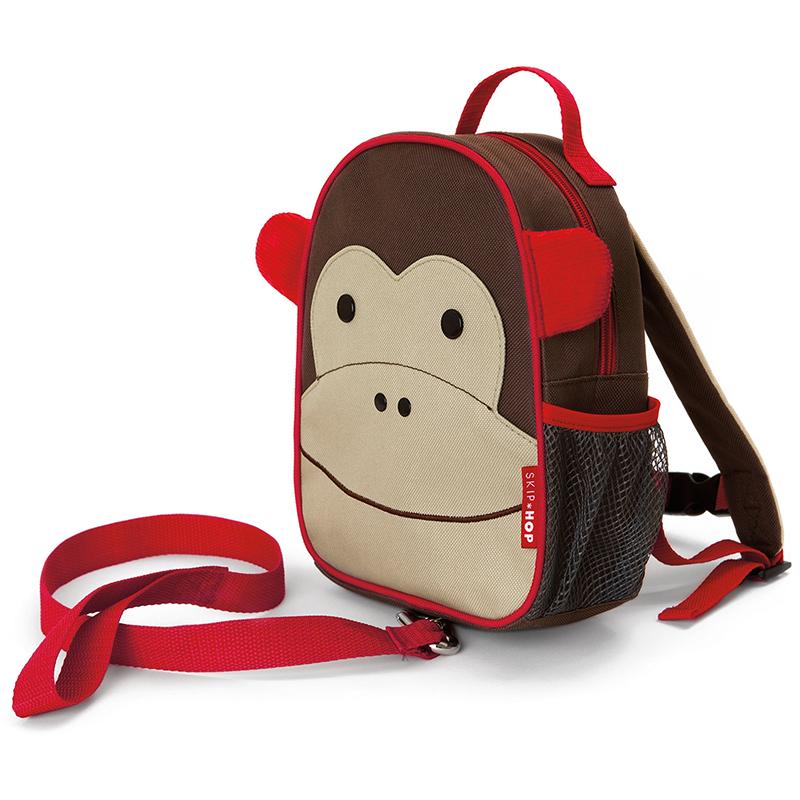 【美国直邮】美国SKIPHOP动物园迷你背包(附防走失带)-猴子