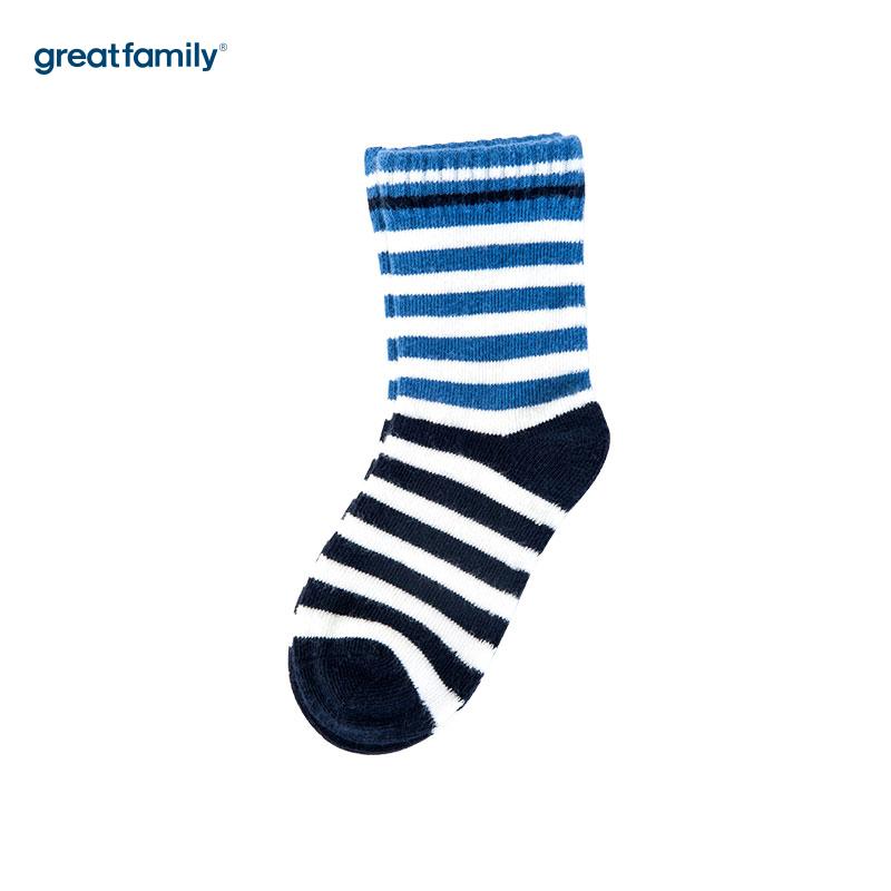 歌瑞家(Greatfamily)A类红色纯棉男童中袜