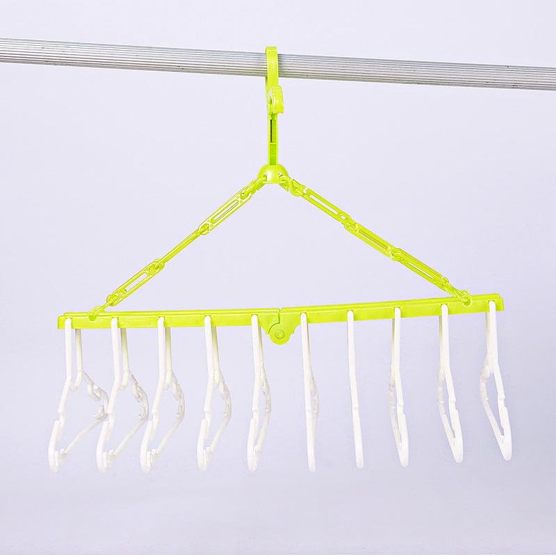 津娃(新)-10连可折叠儿童衣架1个/件