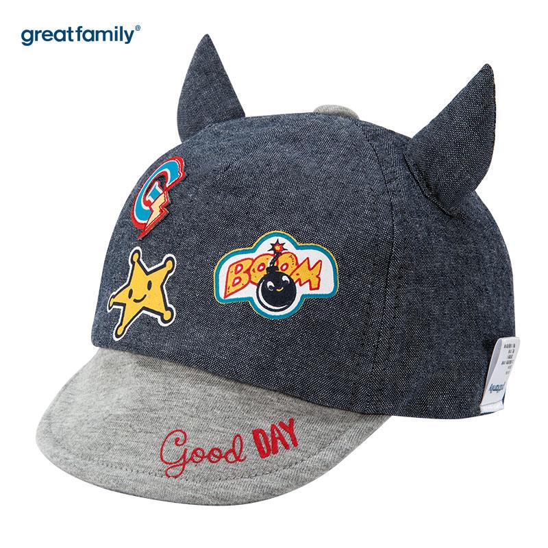 歌瑞家(Greatfamily)A类女童蓝色棒球帽