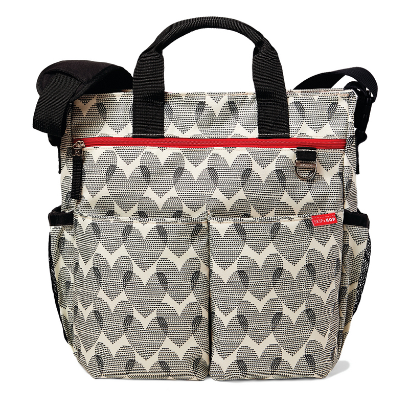 美国SKIP HOP Duo Signature妈妈包(心型图案)Skip Hop Duo Signature Diaper Bag,Hearts