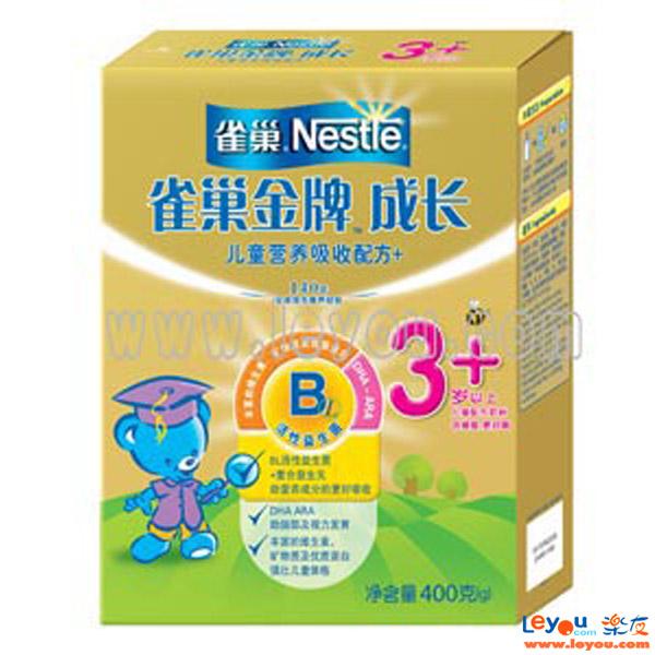 Nestle雀巢能恩金牌成长奶粉400g盒装 4段