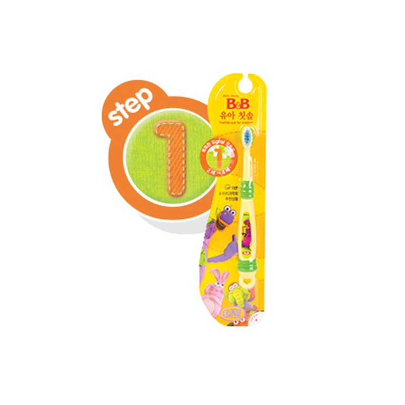 保宁B&B韩国进口宁幼儿牙刷1阶段2至4岁母婴用品