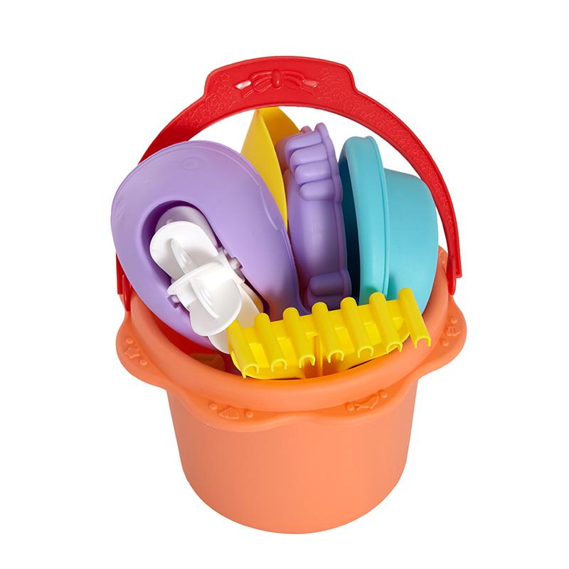 字母沙滩玩具(软胶沙滩桶套装)7PCS