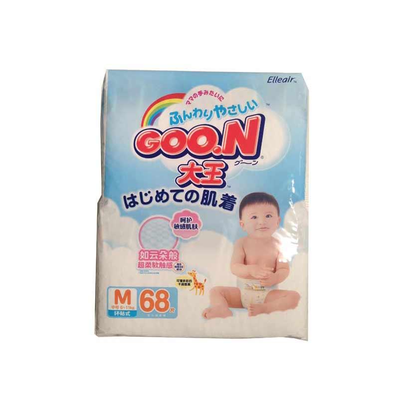 日本GOO.N大王维E系列纸尿裤M68片中包