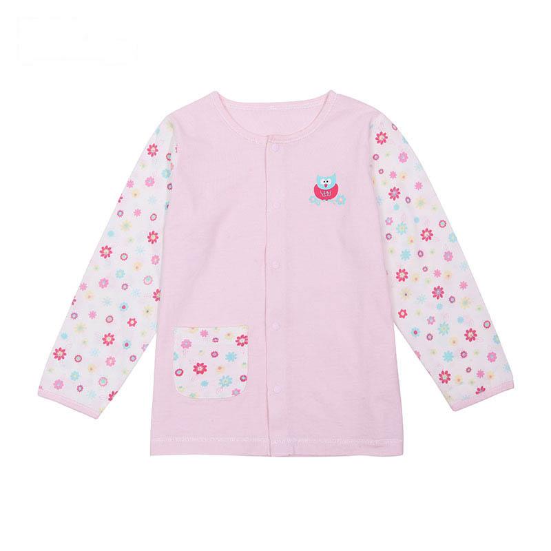 歌瑞凯儿A类女童粉色单面布对开上衣