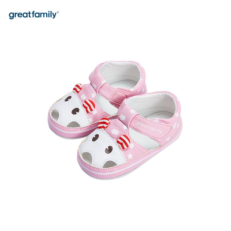 歌瑞家(greatfamily)女婴立体动物宝宝鞋GB182-008SH粉11CM双