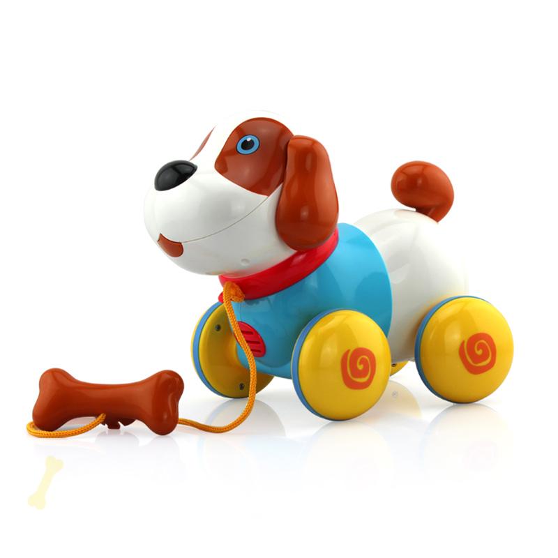 新新家族 动物玩具-音乐拉线狗