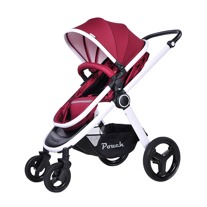 pouch婴儿手推车P70红色
