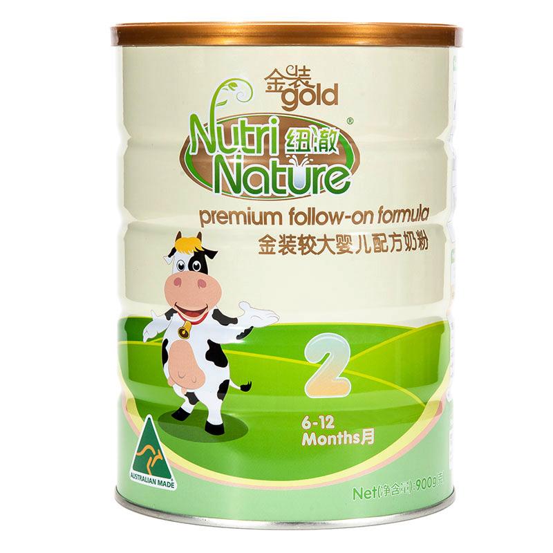 纽澈NutriNature较大婴儿配方奶粉2段6至12个月900g澳大利亚原装进口