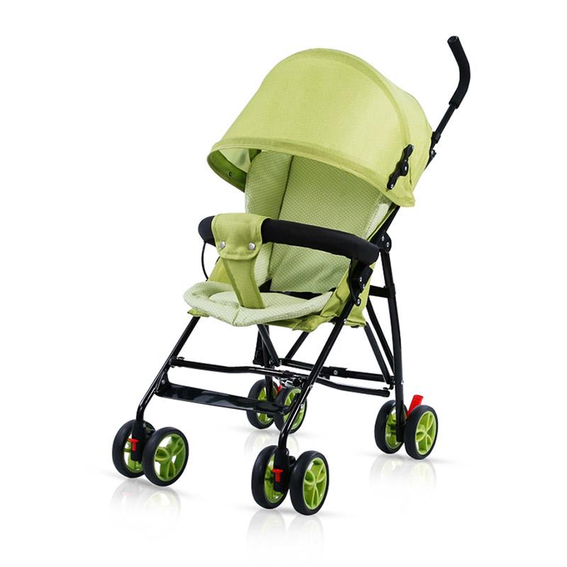 Pouch便携儿童伞柄车推车A01绿色
