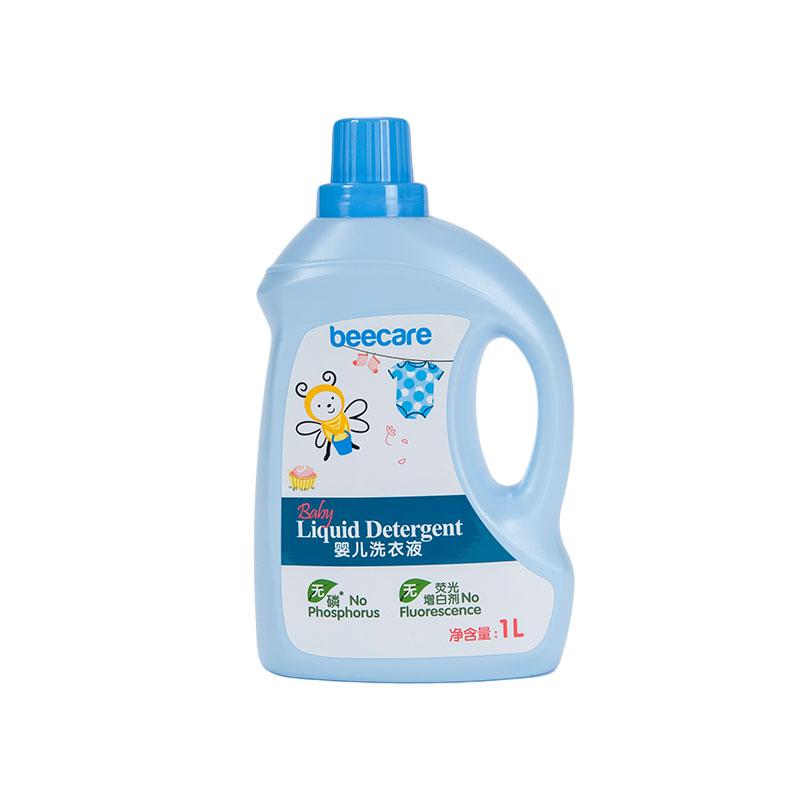 碧呵婴儿洗衣液1L瓶装无磷无荧光无漂白剂安全温和不伤手
