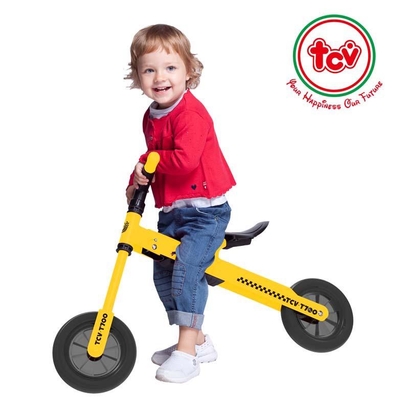 【乐海淘】台湾TCV折叠式儿童平衡滑步车T700 黄 海外直邮