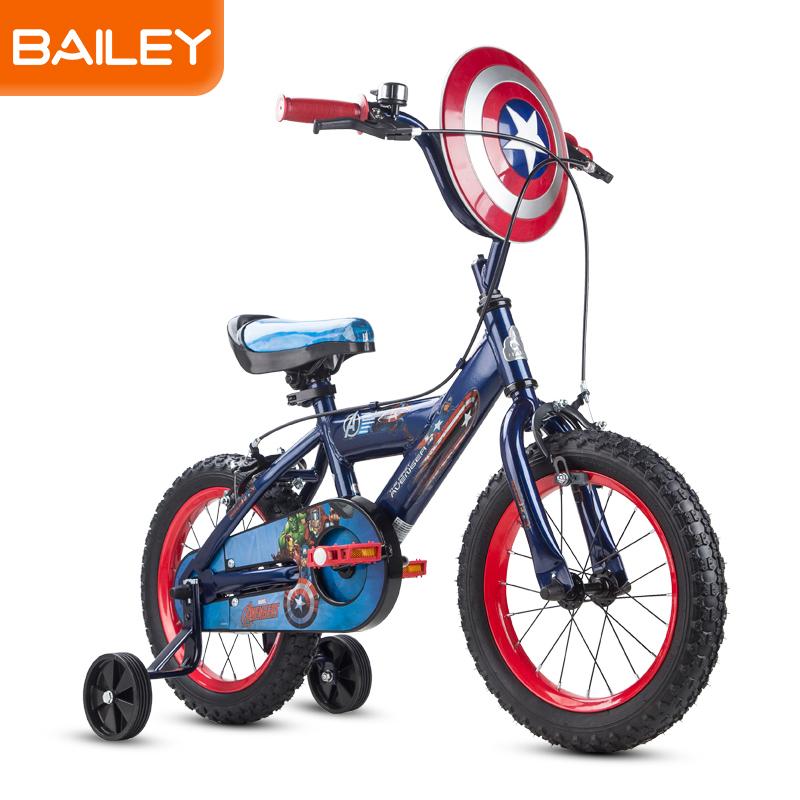 贝乐BAILEY-美国队长系列盾牌儿童自行车12寸