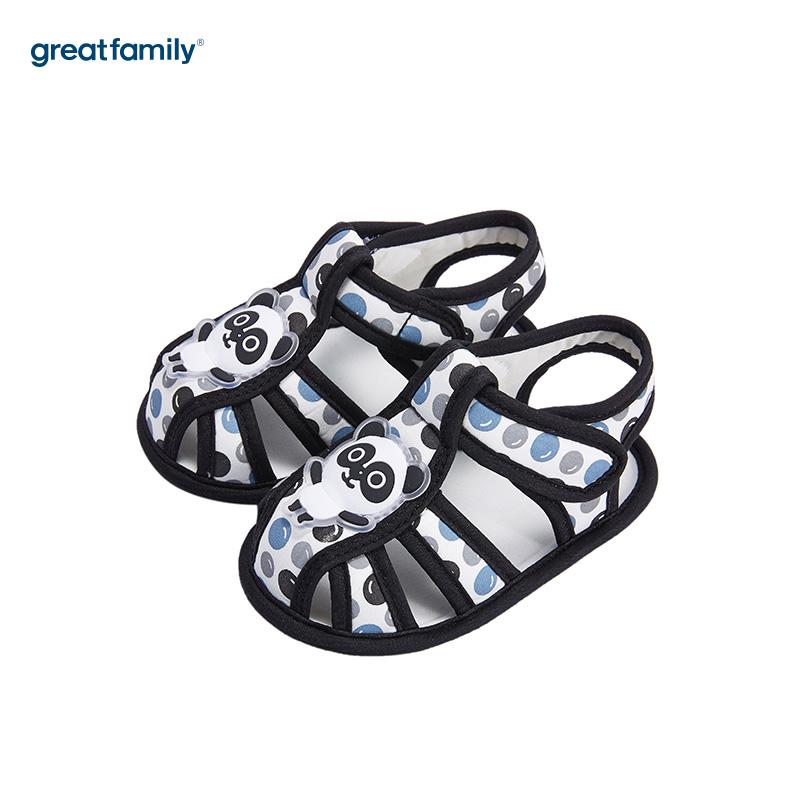 歌瑞家(greatfamily)男婴圆点宝宝鞋GB182-006SH黑11CM双