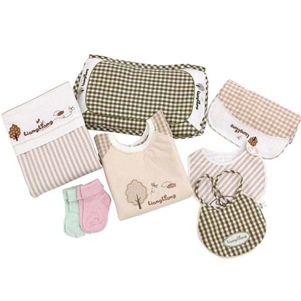 良良(新)--新生儿苎麻礼盒LLG01-1米色混码盒